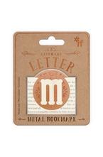 Метален книгоразделител - ретро буква - M