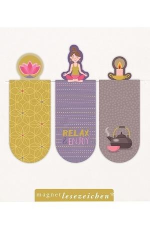 Продукт - Магнитен книгоразделител мини - Relax & Enjoy