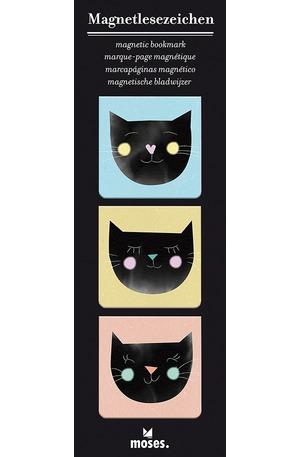 Продукт - Магнитен книгоразделител квадрат - Котки