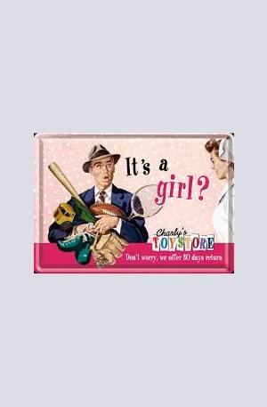 Продукт - Метална картичка Its a girl?