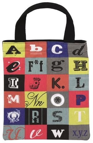 Продукт - Чанта за книги от плат - Азбука
