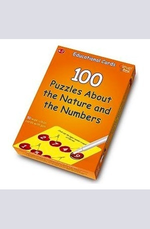 Продукт - 100 puzzles about the nature and the numbers: Educational cards
