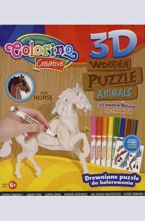 Продукт - 3D Дървен пъзел - кон
