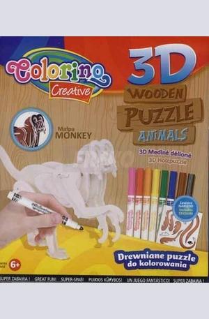 Продукт - 3D Дървен пъзел - маймуна