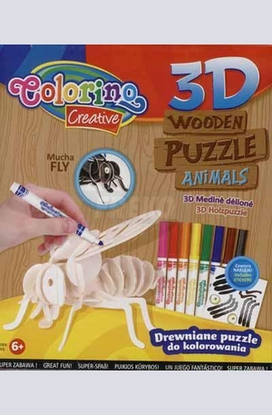 Продукт - 3D Дървен пъзел - муха