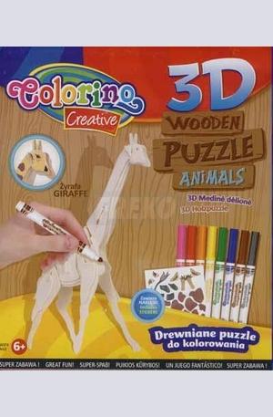 Продукт - 3D Дървен пъзел - жираф
