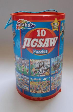 Продукт - Blue mega pack 10 puzzles