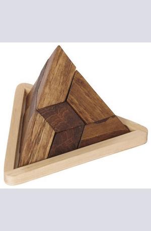 Продукт - Дървен пъзел пирамида