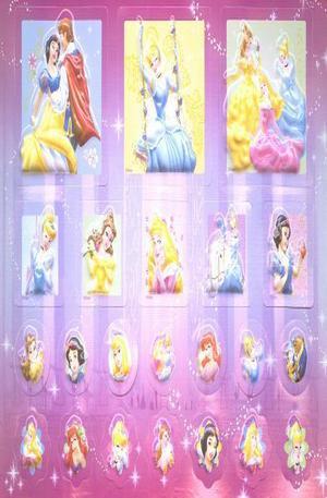 Продукт - Disney Princess 3D Stickers - set of 22
