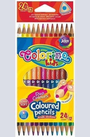 Продукт - Duo colours - цветни моливи - 24 цвята