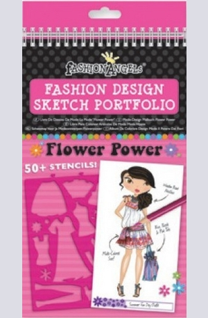 Продукт - Fashion Design Sketch Portfolio - Flower Power