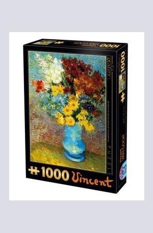 Продукт - Flowers in Blue Vase - 1000
