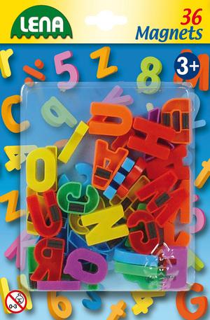 Продукт - Магнитни букви - 36 броя