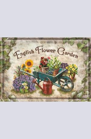 Продукт - Метална картичка English Flower Garden
