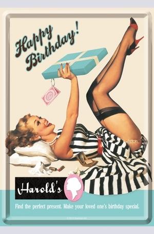 Продукт - Метална картичка Happy Birthday Harolds
