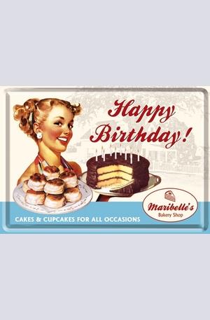 Продукт - Метална картичка Happy Birthday