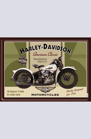 Продукт - Метална картичка Harley-Davidson Knucklehead