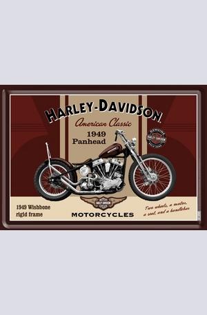Продукт - Метална картичка Harley-Davidson Panhead