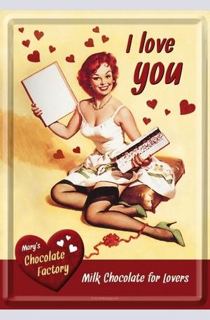 Продукт - Метална картичка I Love You