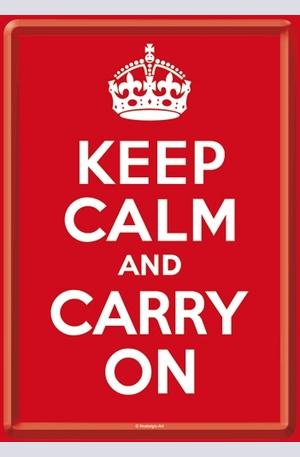 Продукт - Метална картичка Keep Calm And Carry On