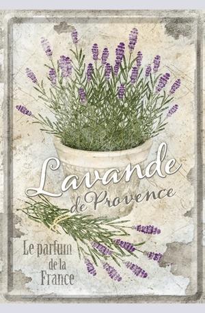Продукт - Метална картичка Lavande de Provence