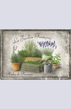 Продукт - Метална картичка Le Jardin Francais