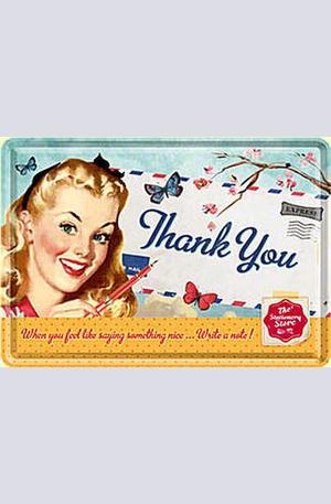 Продукт - Метална картичка Thank You