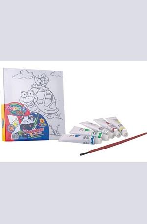 Продукт - Платно за рисуване + бои - 15х15