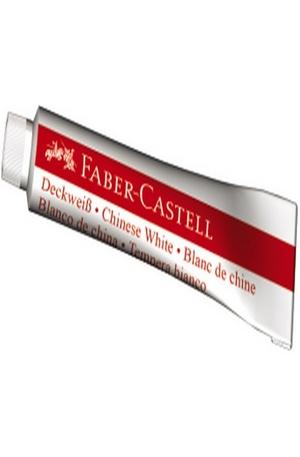 Продукт - Темперна бяла боя Faber-Castell - 7.5 мл