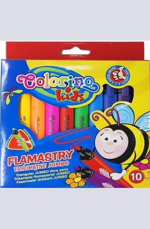 Продукт - Триъгълни флумастери - 10 цвята
