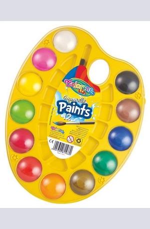 Продукт - Водни бои - 12 цвята палитра