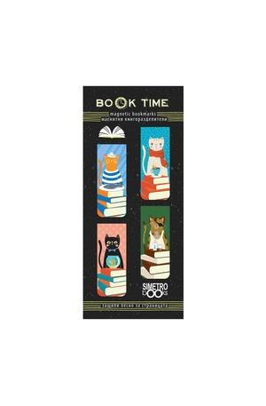 Продукт - Магнитни книгоразделители - Book Time - Котки и книги