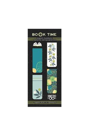 Продукт - Магнитни книгоразделители - Book Time - Lemons and flowers