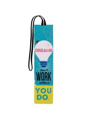 Продукт - Книгораздeлител с ластик – Dreams don't work unless you do