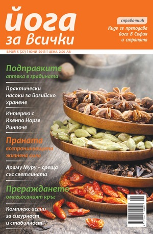 е-списание - Йога за всички- брой 5/2013