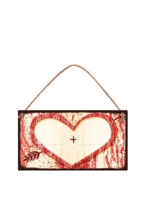 Продукт - Табелка - Сърце - за дописване