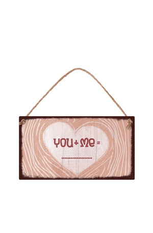Продукт - Табелка - Сърце - You+Me