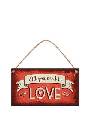 Продукт - Табелка - All you need is love