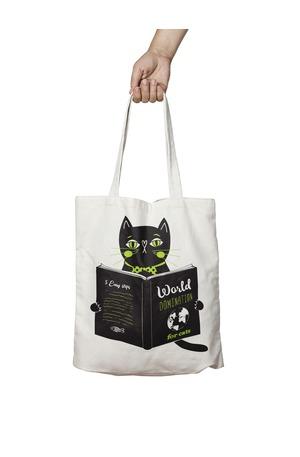 Продукт - Чанта за пазаруване - Как да доминирам света? - за котки