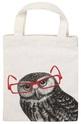 Чанта за книги от плат - Бухал