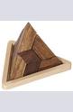 Дървен пъзел пирамида