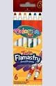 Двойни флумастери - 6 цвята