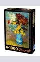 Flowers in Blue Vase - 1000