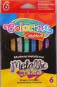 Маркери - металик - 6 цвята