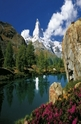 Matterhorn mountain and a lake - 3000