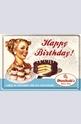 Метална картичка Happy Birthday
