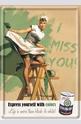 Метална картичка I Miss You