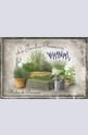 Метална картичка Le Jardin Francais