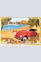 Метална картичка VW Beetle Surf Coast