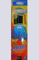 Моливи - 6 цвята + острилка